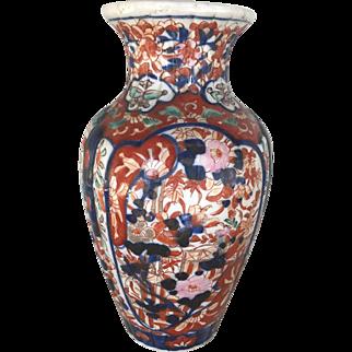 Antique Japanese imari porcelain vase, circa 1860