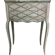 Antique French vanity with brushing slide and mirror, circa 1900