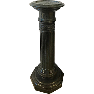 Large antique French solid marble pedestal, circa 1870