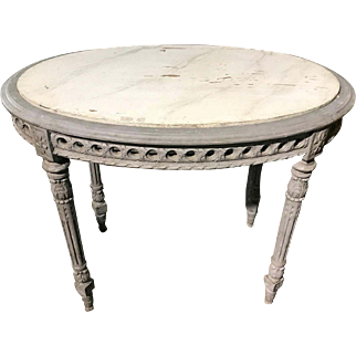 Antique Swedish carved and painted occasional table, circa 1890