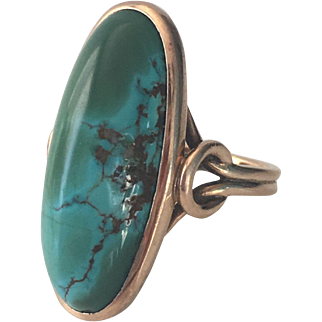 Vintage 14K Gold Turquoise Ring