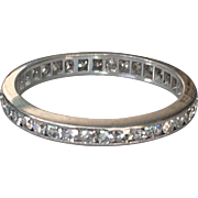 Vintage Platinum .50ct Eternity Ring