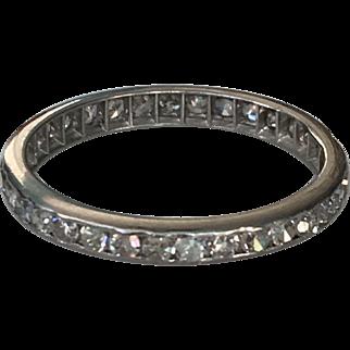 Vintage Platinum Victorian .50ct Eternity Ring