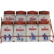 Dutch Boy /Girl Spice Shakers with rack
