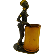 Richard Rohac (Hagenauer) Bronze: African with a Drum