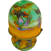 French Art Glass Table Lamp: Guyot & Aconito