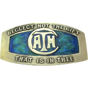 "Silver & Enamel Art Nouveau Brooch for Liberty & Co: ""Neglect not the gift that is in thee"""