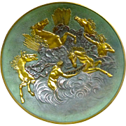 Max Le Verrier Bronze Plate: Apollo with Horses