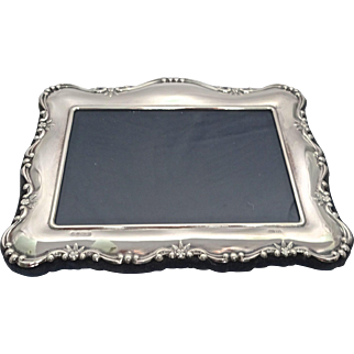 Carrs Sterling Silver Photo Frame; Sheffield 1995 (New Old Stock), medium size