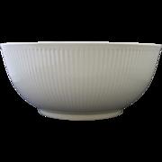 Royal Copenhagen Denmark Midcentury Modern Georgiana White Ribbed Serving Bowl