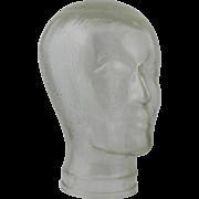 c1970s Mannequin Head Form Clear Sculpture