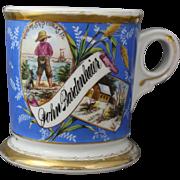 Antique Koken Barber Occupational Ship and Cabin Shaving Mug of John Bardenheier