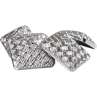 Cartier Cufflinks Cartier 18K White Gold Cufflinks - M 115S