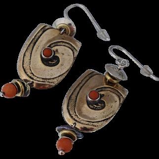 Tabra Sterling Coral Bronze Earrings