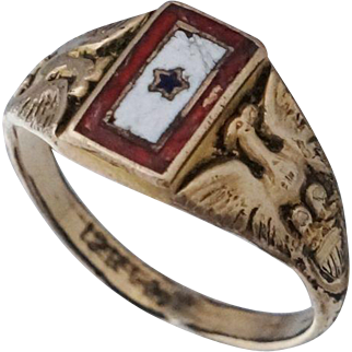 WW1 Gold Filled Son in Service Ring Sz 5.5