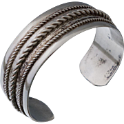 Native American Bell Trading Company Sterling Cuff Bangle Bracelet