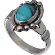 Native American Sterling Turquoise Ring Sz 5 Bell Trading Company