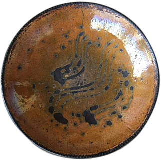 PA Slip Decorated Redware Plate