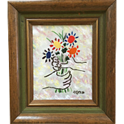 Bouquet by Picasso Done By Max Karp Enamel On Copper