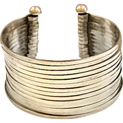 Vintage 925  Mexico Solid Sterling Silver Cuff Bracelet