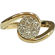 Vintage 14K Yellow Gold  Diamond Women's   Ring!!!