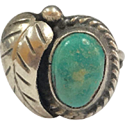 Vintage Native American Sterling Silver Turquoise Women's  Ring!!!!