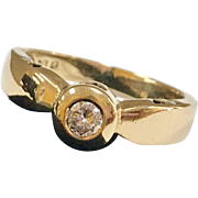Beautiful Designed Vintage 18K  Solid Yellow Gold  Diamond Ring!!