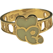 "Vintage ""RJ"" 18K Yellow Gold Mickey Mouse Atlas Design Ring!!"