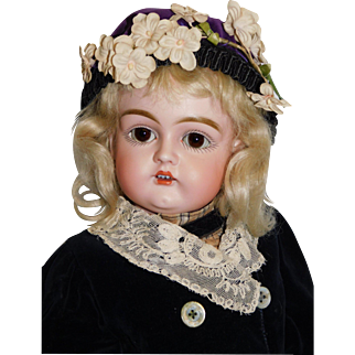 Antique German Bisque Kestner 129  16.5 inches – harder to find mold, Beautiful molding c 1890