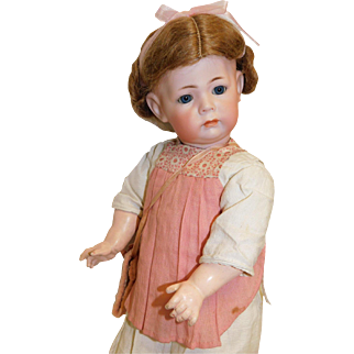 Antique German Bisque Kammer & Reinhart 115A Simon & Halbig  15.5 inches Toddler c 1910  Fabulous Character