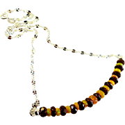 JFTS Red Garnet and Ethiopian Opal Necklace.
