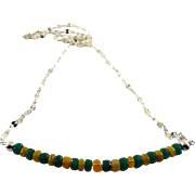 JFTS Emerald and Ethiopian Opal Necklace