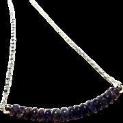 JFTS Natural Tanzanite Necklace