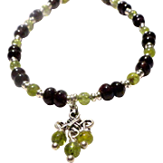 JFTS Garnet & Peridot Anklet