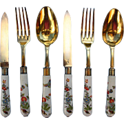 Two Sets of Antique Kakiemon Meissen Cutlery Dating to 1735/40. Bookpieces