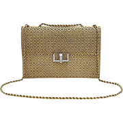 A Unique Handmade 18KT Yellow Gold And Diamond Ladies Evening Handbag Purse