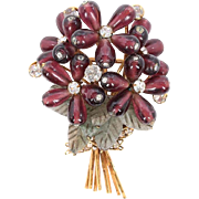 An Iradj Moini Floral Bouquet Brooch Pin