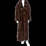 A Vintage Floor Length Fendi Brown Mink Fur Coat