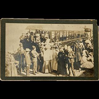 J. G. Hiestand Official Photographer Manitou & Pike's Peak Railway Original Photograph c1905 Ute Iron Springs Colorado no. 12