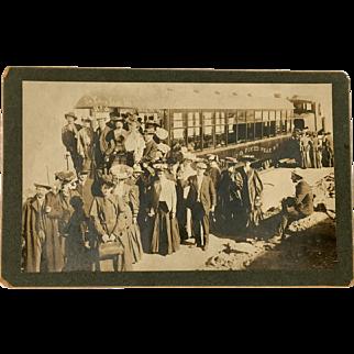 J. G. Hiestand Official Photographer Manitou & Pike's Peak Railway Original Photograph c1905 Ute Iron Springs Colorado no. 14