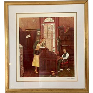 Norman Rockwell The Marriage Contract Signed Lithograph no 2170 of 2500 Certificate of Authenticity Included
