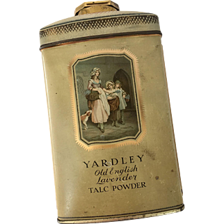 Vintage Yardley of London Talcum Powder Tin Litho Bottle Old English Lavender Still Sealed 8oz