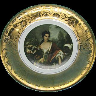 Wawel Poland Decorative Collector Plate with Gold Leaf Malarz Dworu