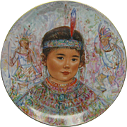 EDNA HIBEL The Nobility of Children Collectors Plate Chief Red Feather Roenthal