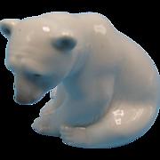 Lladro Figurine #1209 Seated Polar Bear