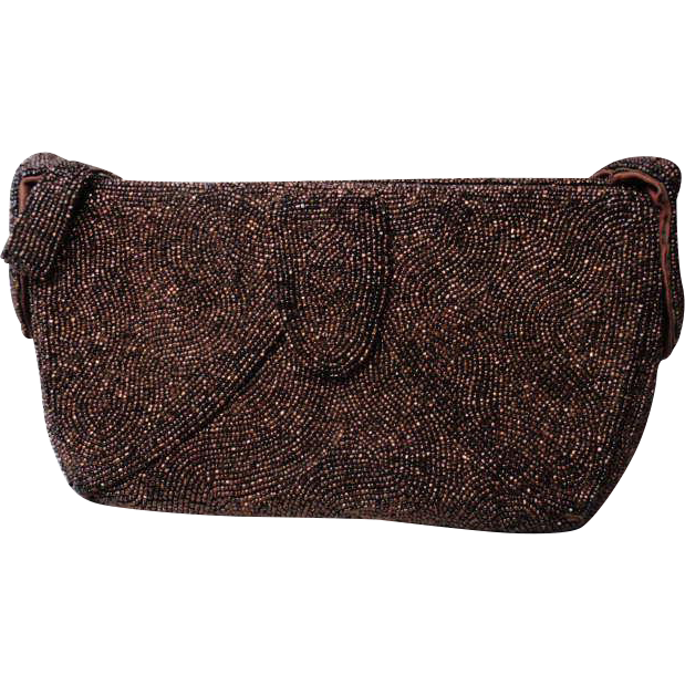 1940s Beaded Evening Bag Purse