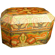 Antique 19th century Anglo-Indian Kashmir box- Hand painted.