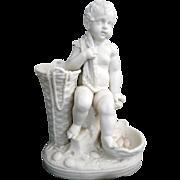 Victorian Parian ware  figurine of a child