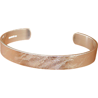 "Ladies, Womens, Open Bangle Sterling Silver ""Sirocco""  Buy With Confidence ""London Assay Hallmark"""