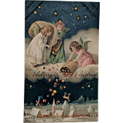 Hold To Light Mailick Christmas Postcard